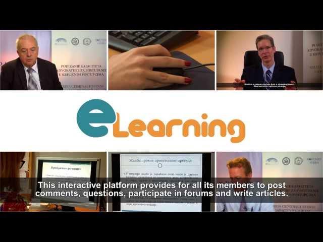 E learning - Criminal Procedure Code