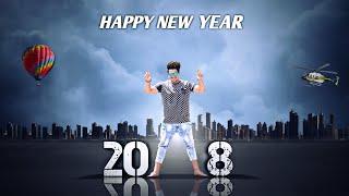 JB - Happy New Year - 2018    PicsArt Photo Editing    PicsArt Manipulation Editing Tutorial