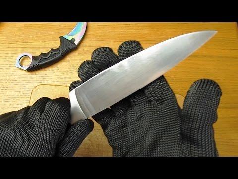 Кевларовые защитные перчатки из Китая! Режу их ножом!