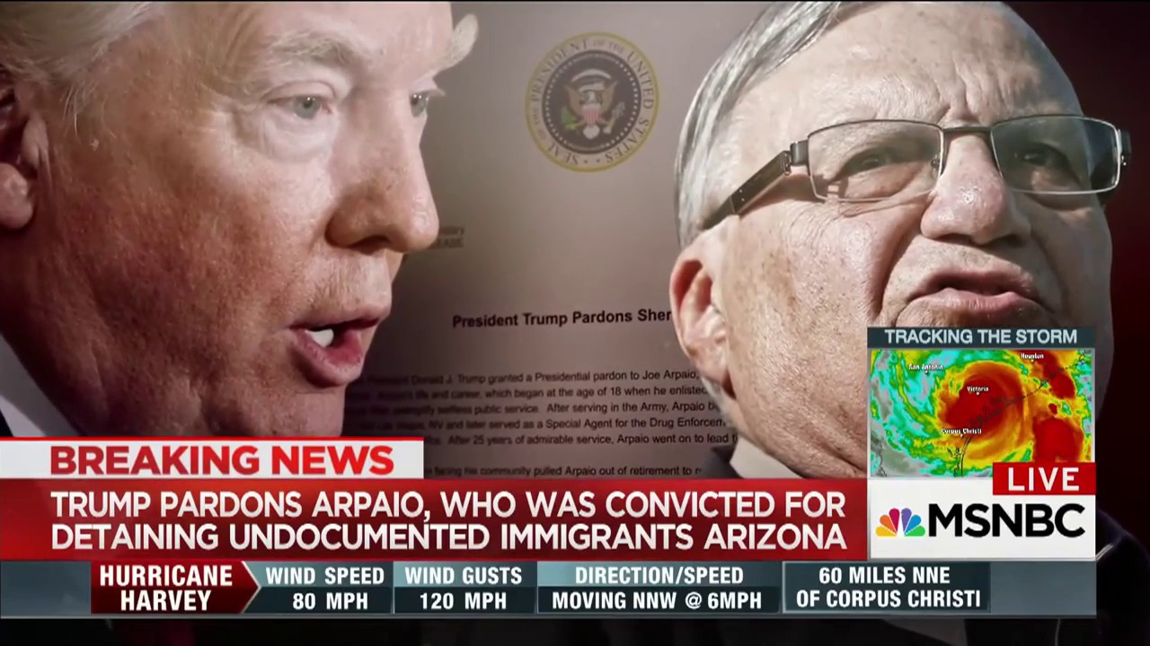 Trump's Stormy Friday: Pardons Arpaio, Bans Transgender in Military | MSNBC