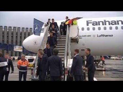 Сборная Германии прилетела в Россию - Россия 24