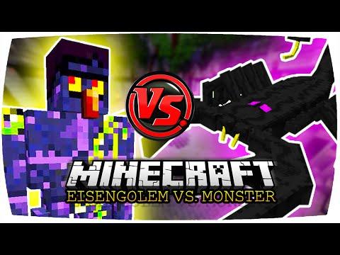 MINECRAFT: OBSIDIAN GOLEM VS. EMPEROR SCORPION! ● Minecraft Eisengolem vs Monster   Nunan (Deutsch)