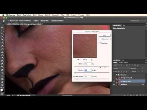 Photoshop Quick Tipp Poren & Haut Weichzeichnen video
