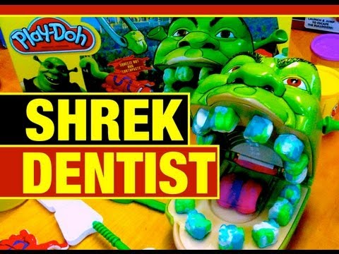 Play-Doh Shrek Rotten Root Canal Fail or Win Funny Play Dough Toy Review by Mike Mozart