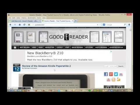 How to Load eBooks on the Amazon Kindle Paperwhite 2