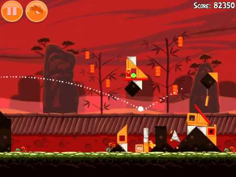 Angry Birds Seasons 2012 Level 1-8 Year of the Dragon 3 Star Walkthrough