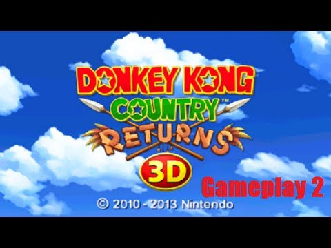 Donkey Kong Country Returns 3D Nintendo 3DS Gameplay 2 + World Map + Controls + Extras