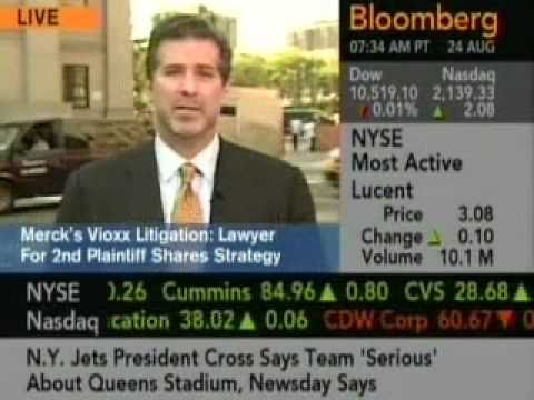 Chris Seeger Discusses Vioxx on Bloomberg