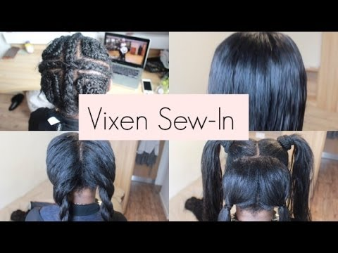 Vixen Sew-In weave Tutorial that you can put in a ponytail (Versatile and Natural looking)