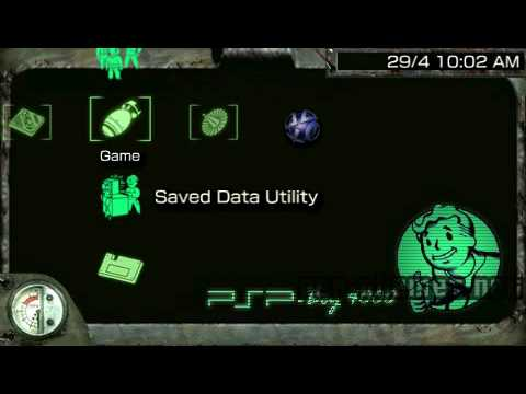 Psp Theme Fallout  Psp Boy  Psp Themes Net Youtube