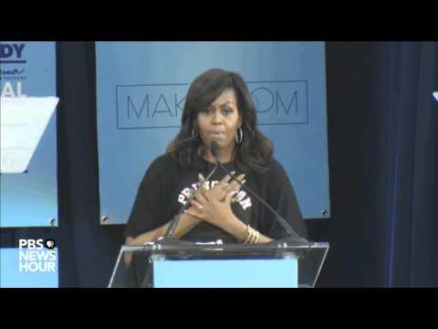 Michelle Obama touts higher education on College Signing Day