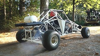 750cc Cross Karts Gets Mufflers & Destroys Tires!