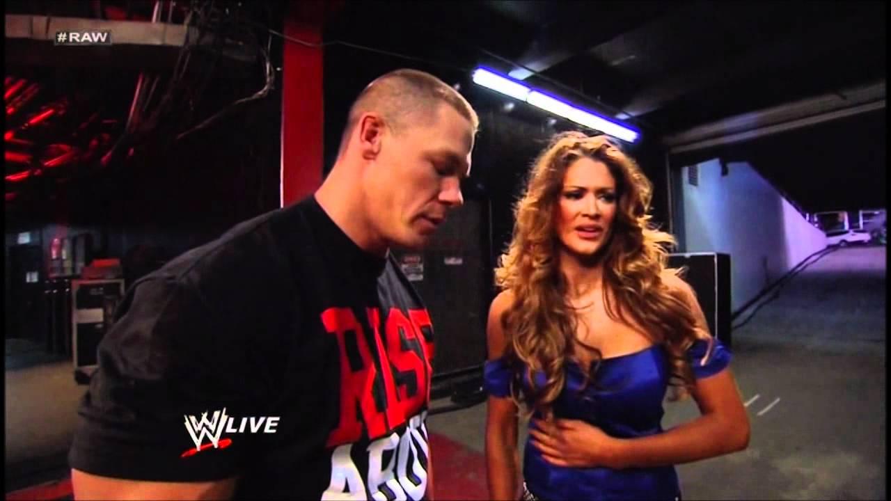 Wwe Kaitlyn And John Cena Kiss WWE Eve kissed John Cena