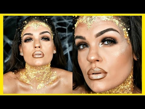 GOLDEN Greek Goddess Makeup Tutorial | Collab with Corrina Cafarelli