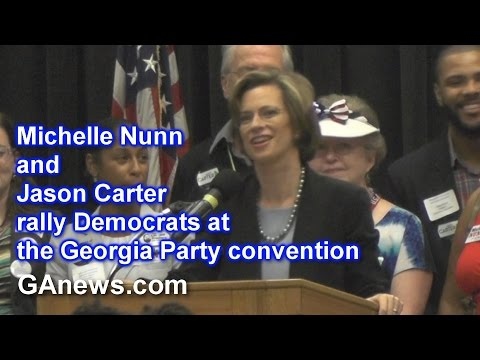 Michelle Nunn and Jason Carter rally Democrats at Convention