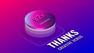 92000+ SUBSCRIBERS!! Thank You | Isometric PowerPoint Presentation Slide Design Tutorial