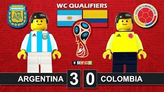 Argentina vs Colombia 3-0 • World Cup Russia 2018 Qualifiers (16/11/2016) goal Lego Football AFA