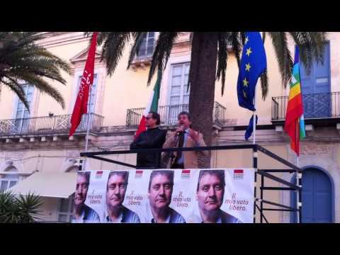 Mario Cicero (L'Altra Europa con Tsipras) a Pozzallo