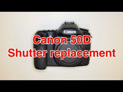How to replace shutter in Canon 50d   Timelapse