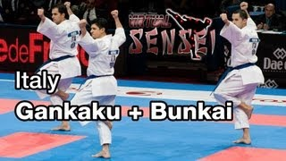 Italy male team - Kata Gankaku + bunkai - Final 21st WKF World Karate Championships Paris Bercy 2012