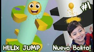 Helix Jump Gameplay   La bolita saltarina   Juegos para niños