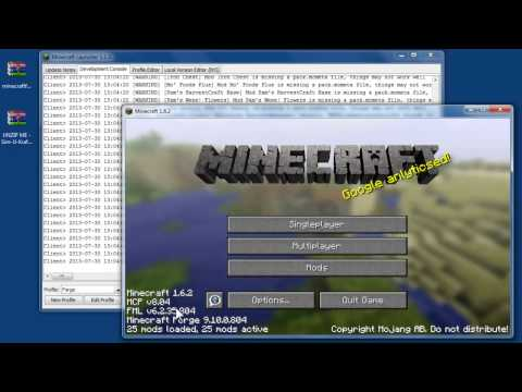 How to install Forge and Sim-U-Kraft using Minecraft 1.6.2 and beyond