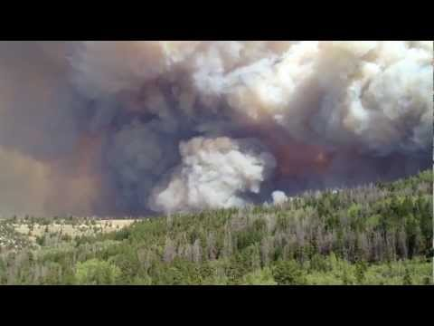 Raging Utah Wildfire