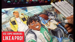 How To Color With Copic Markers Like a Pro