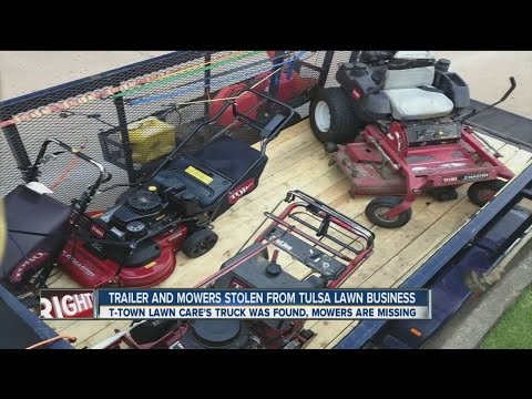 Trailer And Mowers Stolen From Tulsa Lawn Business