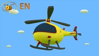 Helicopters for kids: toy helicopter from surprise egg. Educational cartoon for children