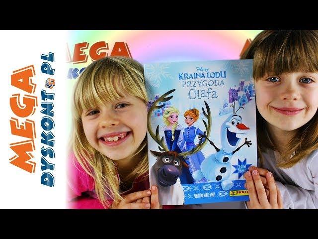 Kraina Lodu Przygoda Olafa • Album z naklejkami Panini & Śpiewająca Elsa • Openbox