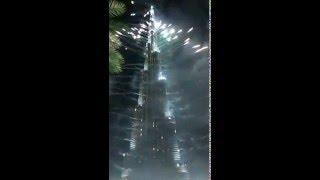 Year Fireworks, Burj Khalifa 2016