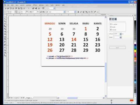 How To Design Calender 2014 Using CorelDRAW, InkSCAPE and Microsoft EXCEL