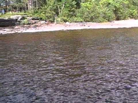 CRANE LAKE,Mn BASS FISHING IN FALLS
