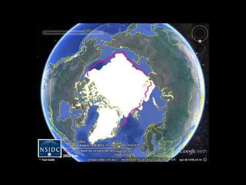 Arctic Sea Ice Extent on Google Earth