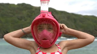 Full-face snorkel masks raise safety concerns