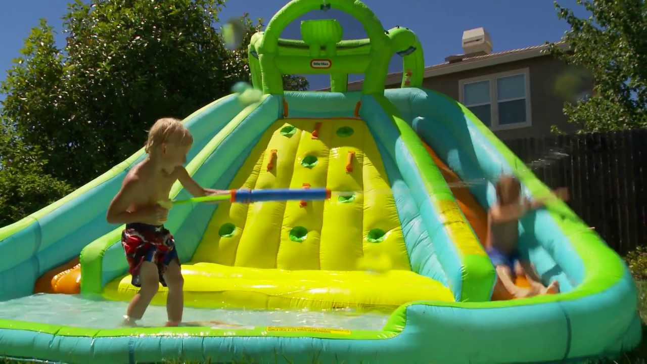 little tikes inflatable water slide bouncer youtube