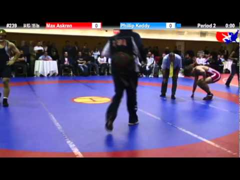 NYAC FS 84 KG / 185 lbs: Max Askren vs. Phillip Keddy