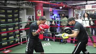LUIS 'CUBA' ARIAS (FULL & COMPLETE) MEDIA WORKOUT FROM MENDEZ BOXING GYM, NYC / JACOBS v ARIAS