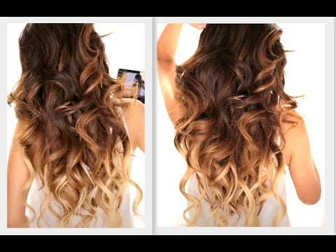 ★ BIG FAT Voluminous CURLS HAIRSTYLE   How To Soft Curl   Ombre Hairstyles