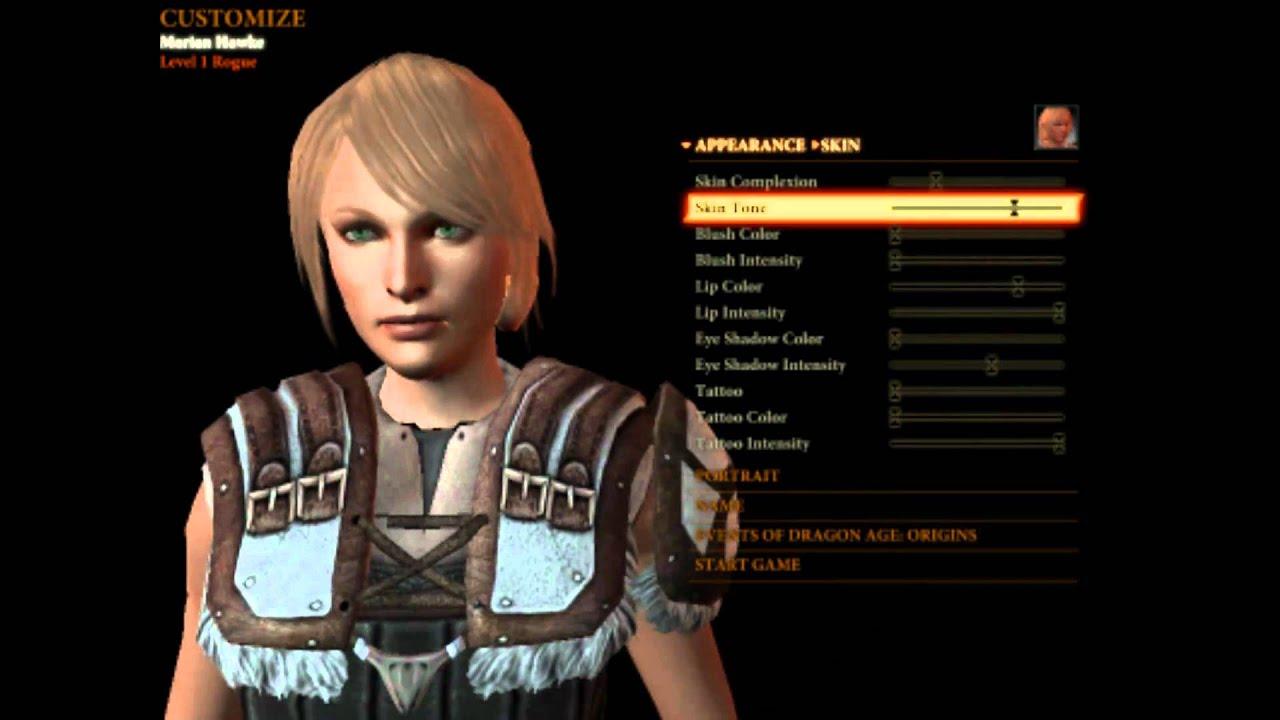 Dragon Age Origins Characters Creation Dragon Age ii Demo Character
