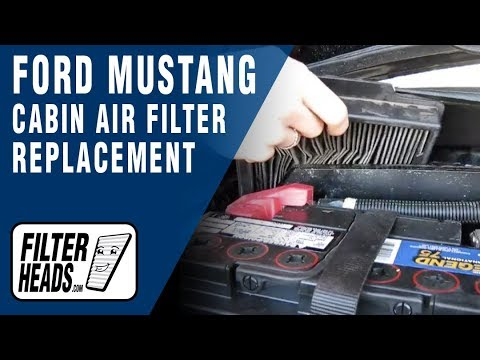Cabin air filter replacement- Ford Mustang