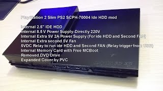 PlayStation 2 Slim PS2 SCPH-70004 Ide HDD mod