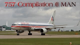 A Boeing 757 Compilation at Manchester Airport - Jet2, Thomson, AA, United, U.S, Condor