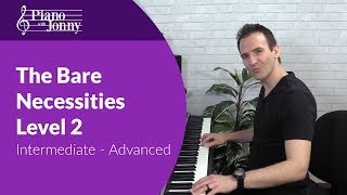 Download Song Bare Necessities - Stride Piano Lesson for Intermediate to Advanced Free StafaMp3