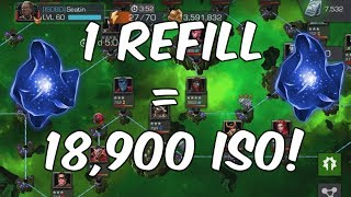 Insane ISO Farming Quick Tip! - 1 Refill = 18,900 ISO - Marvel Contest Of Champions 3.23 MB