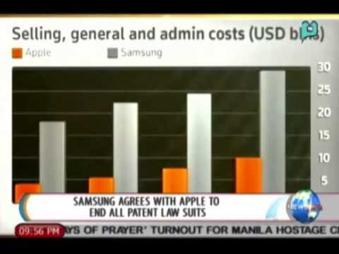 NewsLife: Samsung agrees with Apple to end all patent law suits || Aug. 6, 2014
