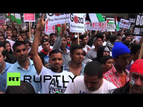 England: 100,000 march in London for pro-Palestine rally