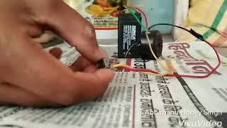How to make a cycle Horn by a simple battery and switch and battery first this is a video made by