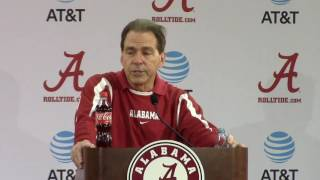 Nick Saban talks offensive prep, Jalen Hurts, Clemson
